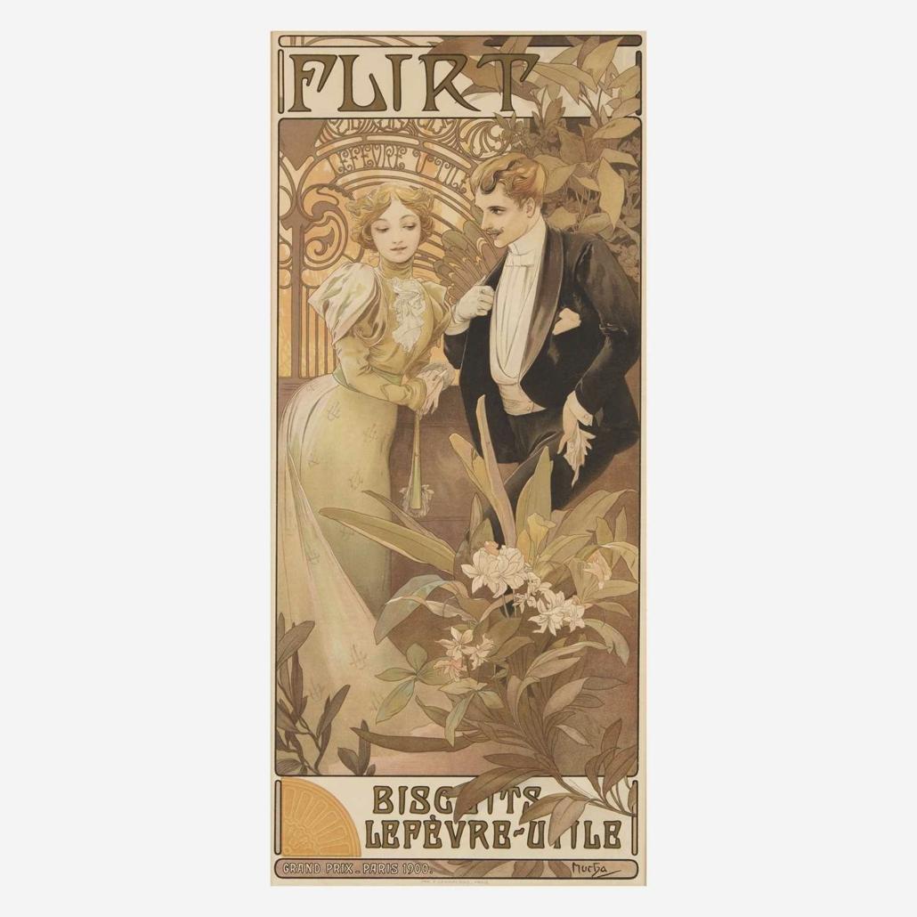 Alphonse Mucha poster, $8,190