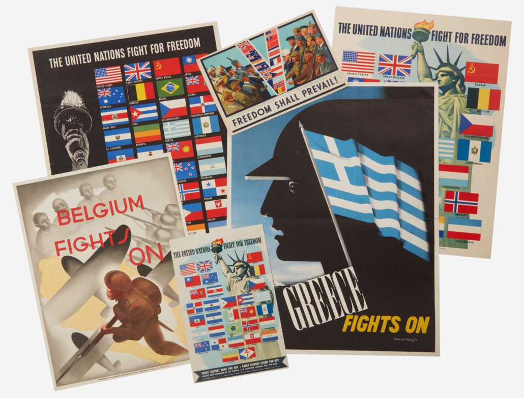 Group of 75 World War II posters, $5,985