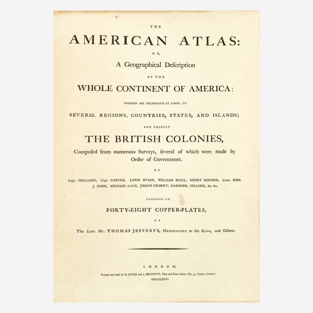 Second edition of The American Atlas, $69,300