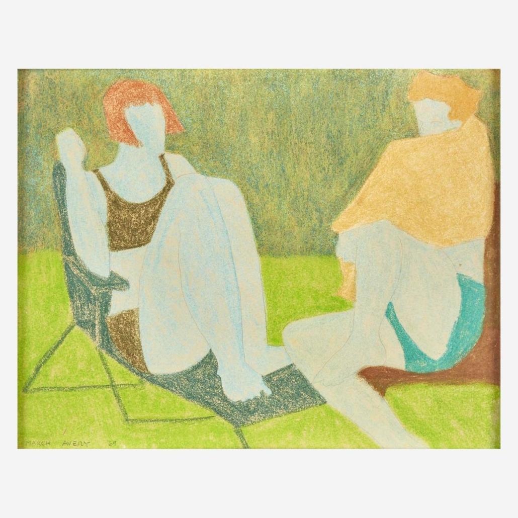 March Avery, 'Summer Conversation,' $9,450
