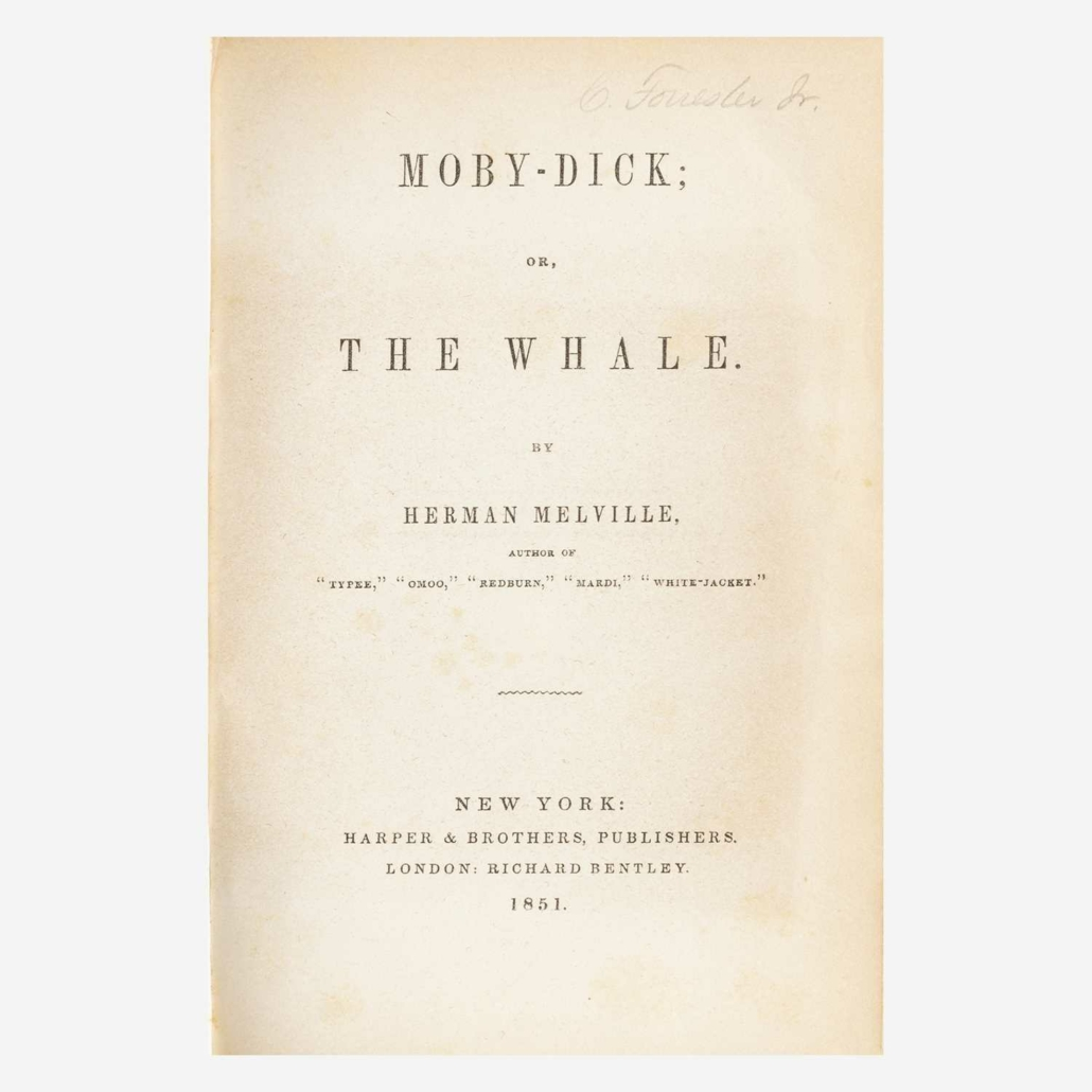 First American edition of Herman Melville's Moby-Dick, $16,380