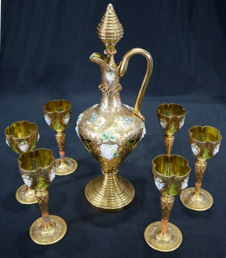 Seven-piece set of Moser wine glasses, est. $500-$1,500