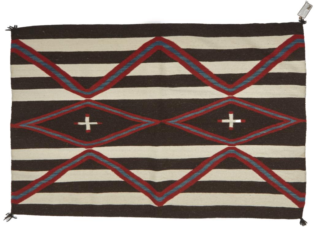 Navajo/Dine Chief's-style wearing blanket, $2,000