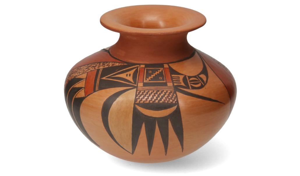 Hopi-Tewa pottery vase by Dextra Quotskuyva Nampeyo, $1,188
