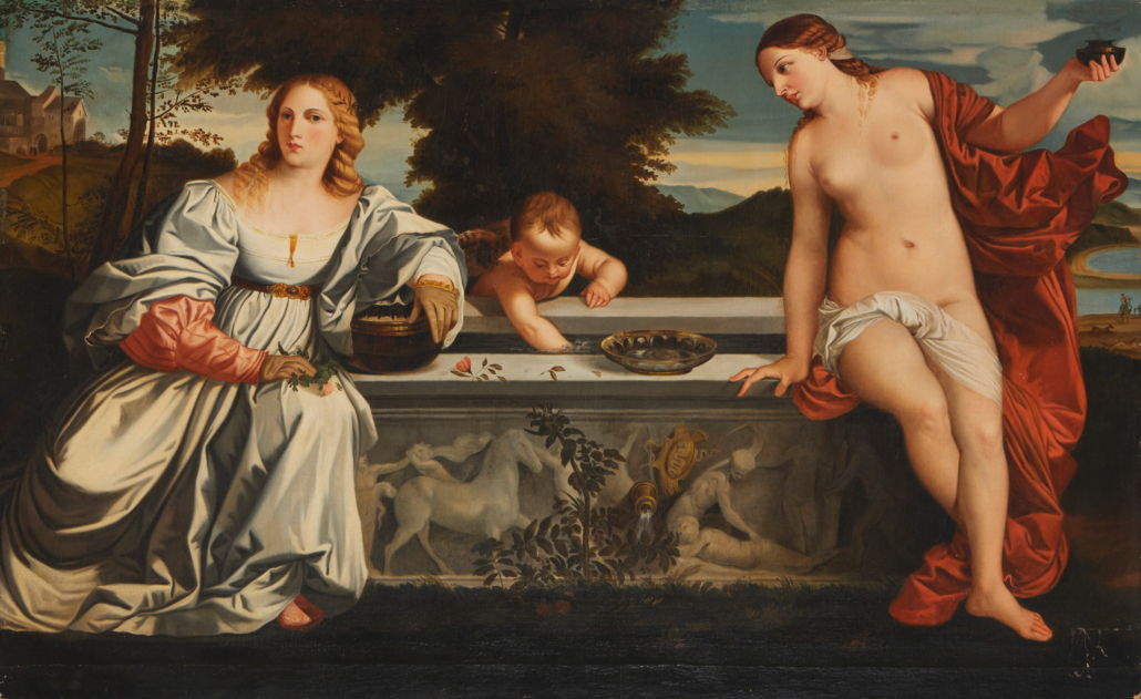 After Titian, 'Sacred and Profane Love,' 19th century, est. $4,000-$6,000