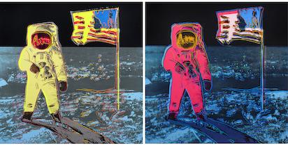 Warhol's 'Moonwalk' dominates trio of mid-Sept. Clars auctions