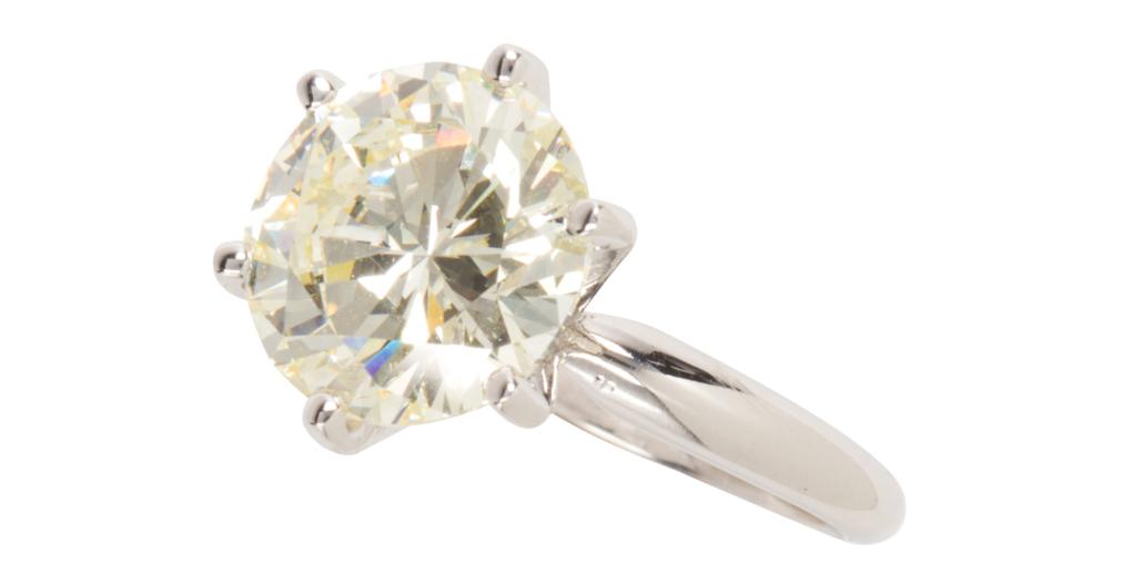 Tiffany & Co. diamond and platinum ring, est. $18,000-$22,000