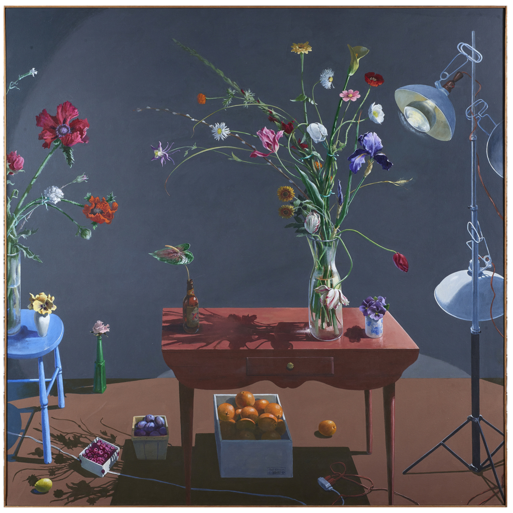 Paul Wonner, 'Flowers and Boxes of Fruit,' est. $80,000-$120,000