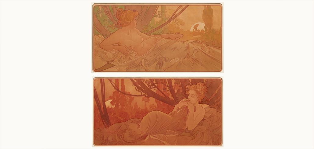 Alphonse Mucha, 'Dawn and Dusk,' est. $15,000-$20,000