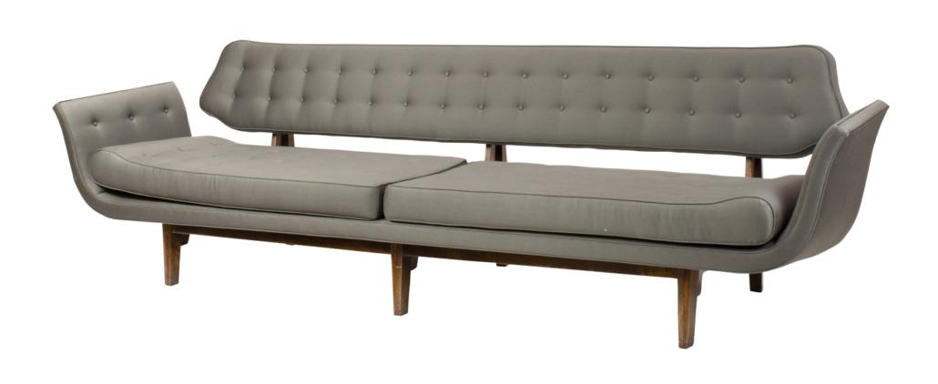Edward Wormley Gondola sofa, est. $15,000-$20,000