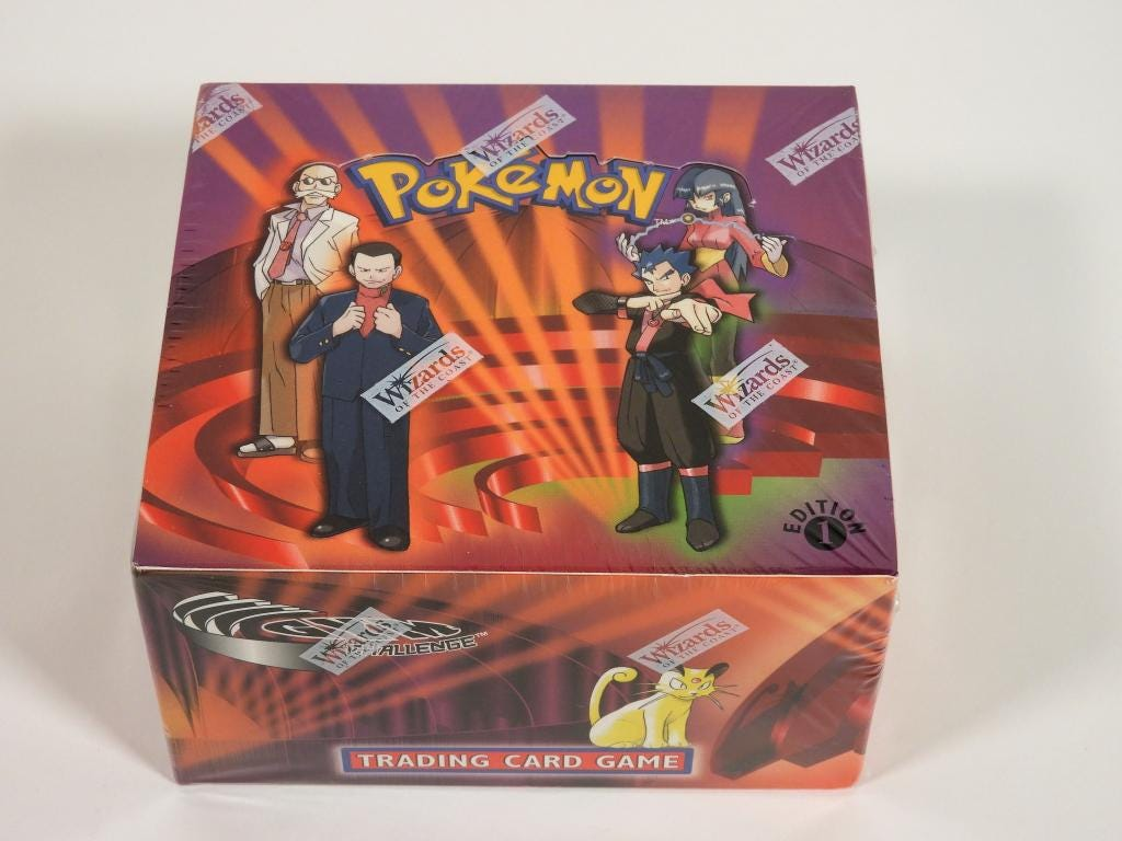 2000 Wizards of the Coast Pokemon Gym Challenge first edition factory sealed booster box, est. $8,000-$12,000