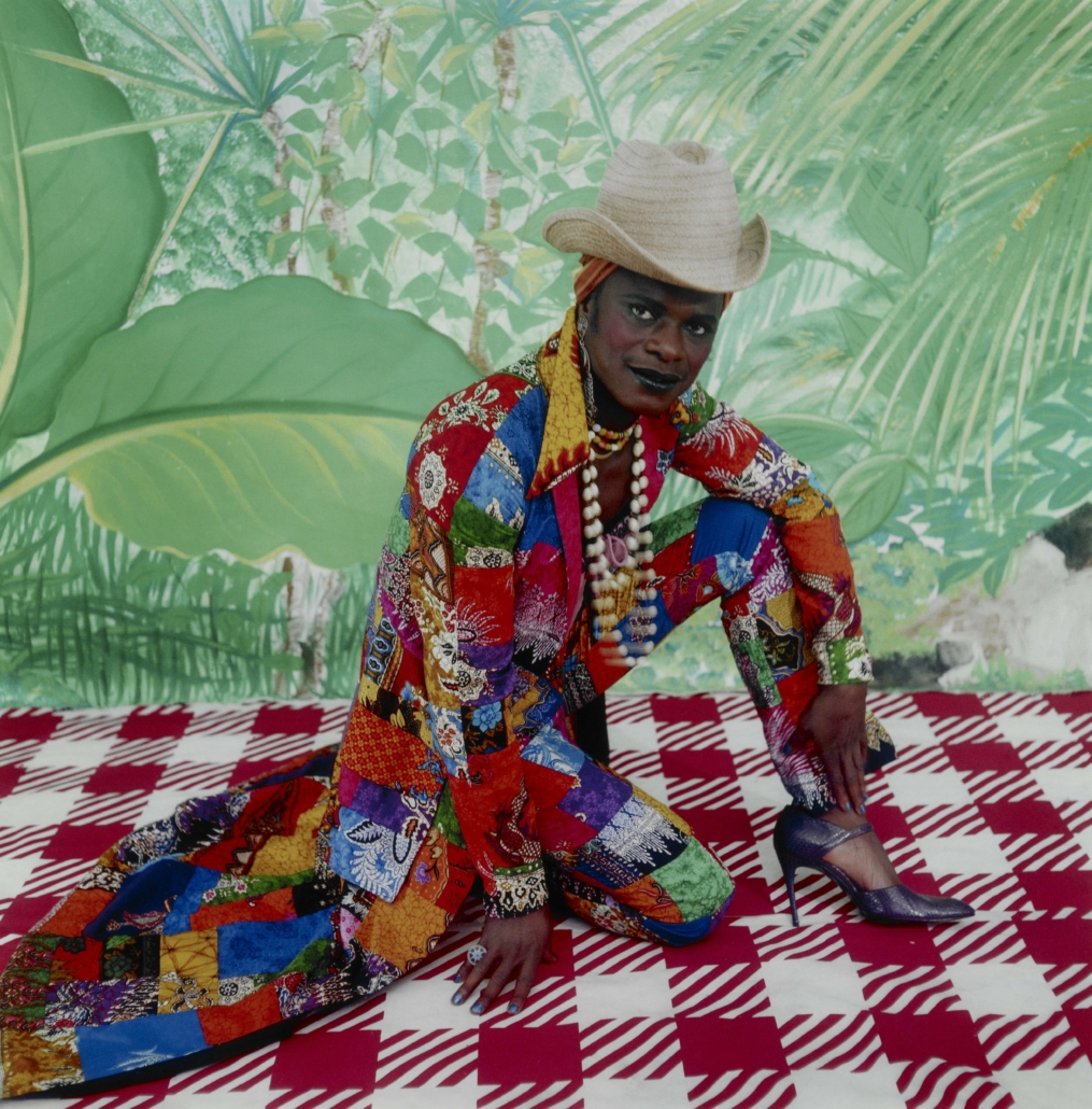 Samuel Fosso, 'Self‐Portrait (as Liberated American Woman of the '70s),' 1997, printed 2003, chromogenic print, the Museum of Fine Arts, Houston, Museum purchase funded by Nina and Michael Zilkha. © Samuel Fosso, courtesy Jean Marc Patras Galerie, Paris