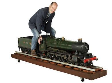 Oversize model steam locomotive takes the lead at Miller & Miller sale