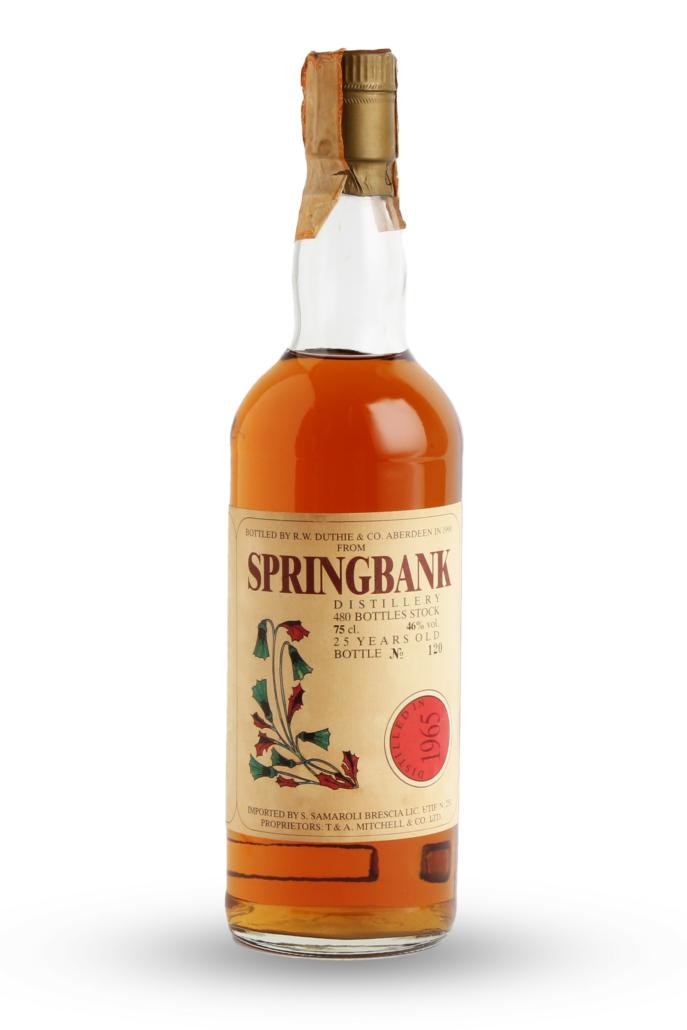 Springbank-25 year old-1965, est. £3,800-£4,800. Image courtesy of Bonhams