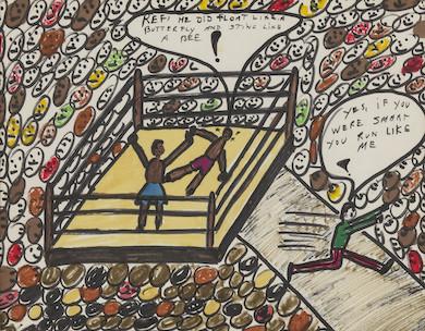 Muhammad Ali drawings step into the ring at Bonhams Oct. 5 auction