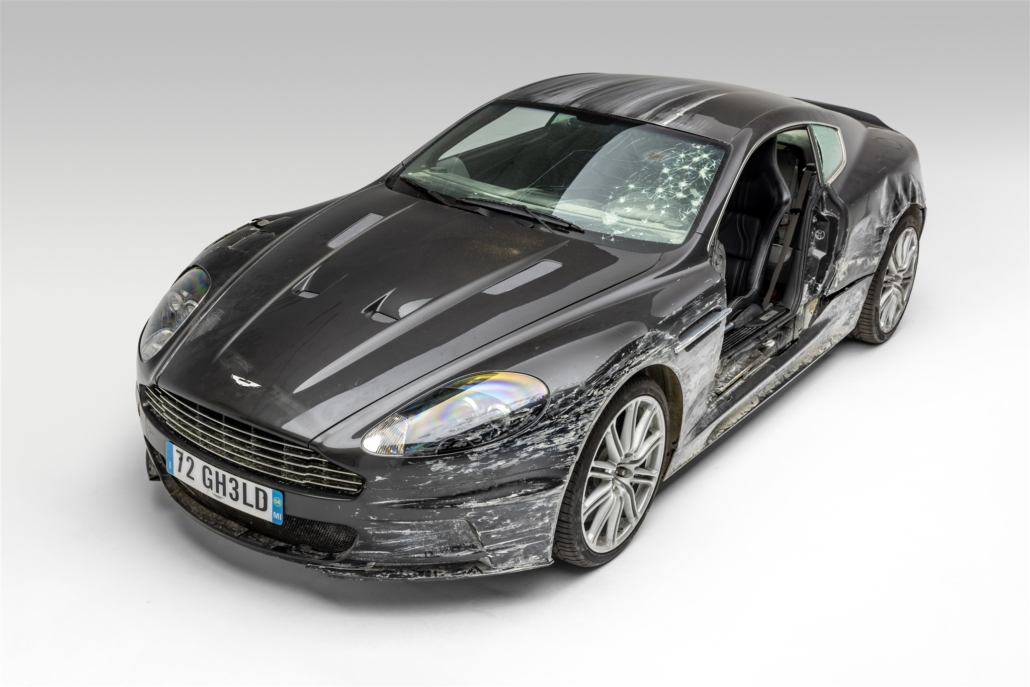 Aston Martin DBS featured in the 2008 James Bond film 'Quantum of Solace.' Photo courtesy of the Petersen Automotive Museum and Ted7