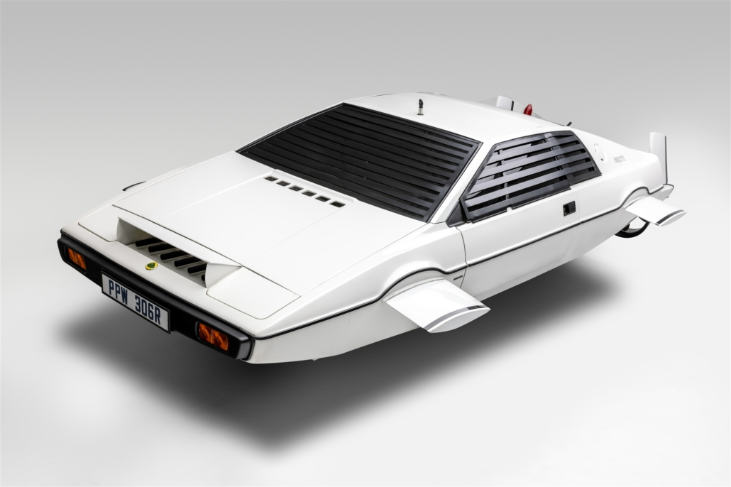 1977 Lotus Esprit S1 Submarine, aka 'Wet Nellie,' from the 1977 James Bond film 'The Spy Who Loved Me.' Photo courtesy of the Petersen Automotive Museum and Ted7