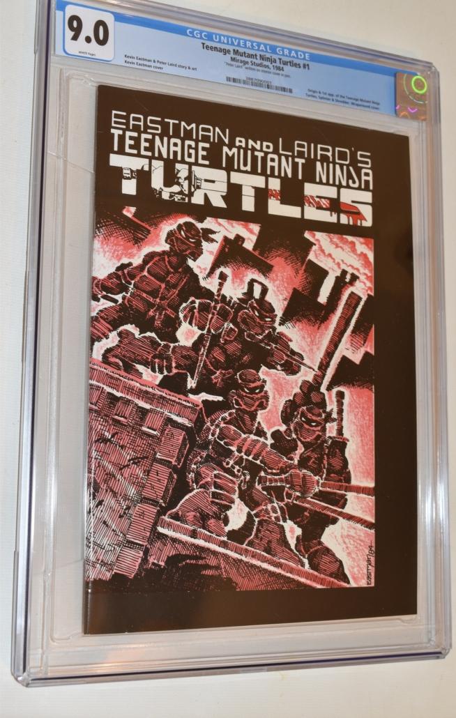 First printing copy of Teenage Mutant Ninja Turtles #1, graded 9.0, est. $100-$1,000