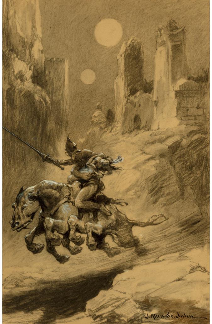 James Allen St. John interior book illustration for Thuvia, Maid of Mars, est. $20,000-$30,000