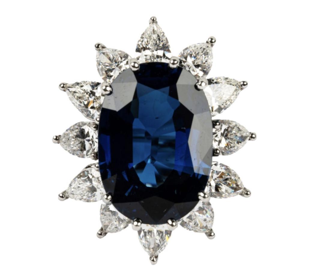 Tiffany & Co. sapphire and diamond ring, $30,000-$40,000