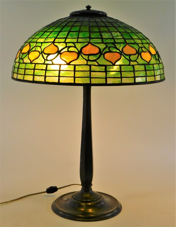 Tiffany Studios Bleeding Heart table lamp, est. $10,000-$15,000