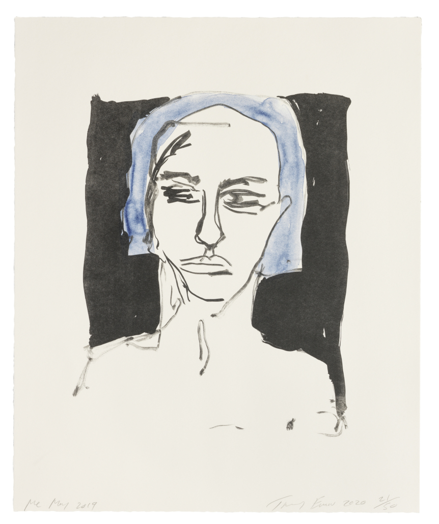 Tracey Emin, one of eight lithographs from 'These Feelings Were True,' est. £40,000-£60,000. Image courtesy of Bonhams