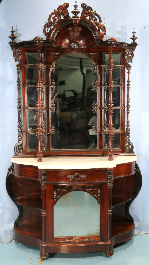 Rosewood Victorian etagere, est. $2,500-$3,500