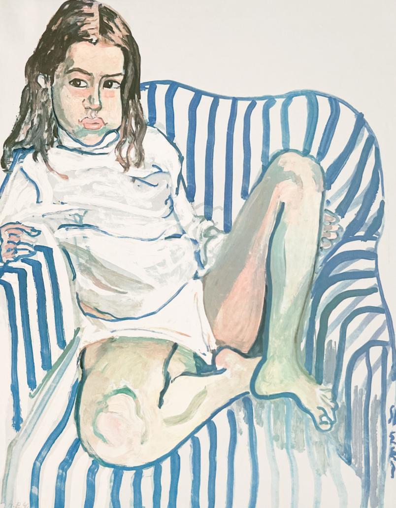 Alice Neel, 'Portrait of a Girl in a Blue Chair,' est. $1,500-$2,500