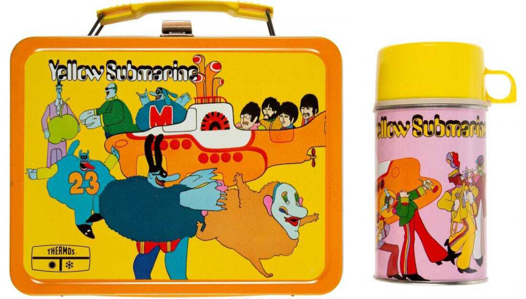 A Beatles 'Yellow Submarine' lunch box with Thermos, realized $3,600 plus the buyer's premium in July 2021 at Heritage Auctions. Image courtesy of Heritage Auctions and LiveAuctioneers.