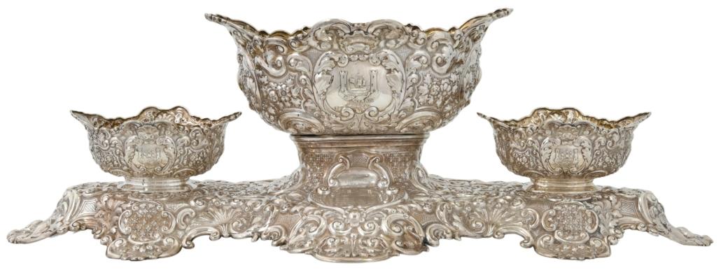 English sterling silver centerpiece, est. $20,000-$30,000