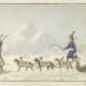 'A Gentleman Travelling in a Dog Cariole in Hudson's Bay with an Indian Guide' by Peter Rindisbacher, est. £50,000-£80,000. Image courtesy of Bonhams