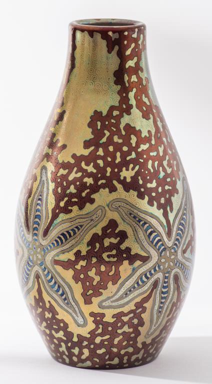 Zsolnay Pecs Starfish vase, est. $3,000-$5,000