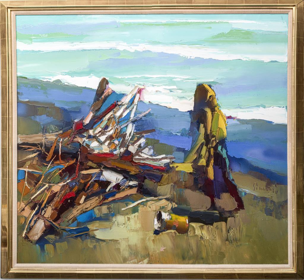Nicola Simbari, 'Ostia Beach,' est. $2,000-$4,000