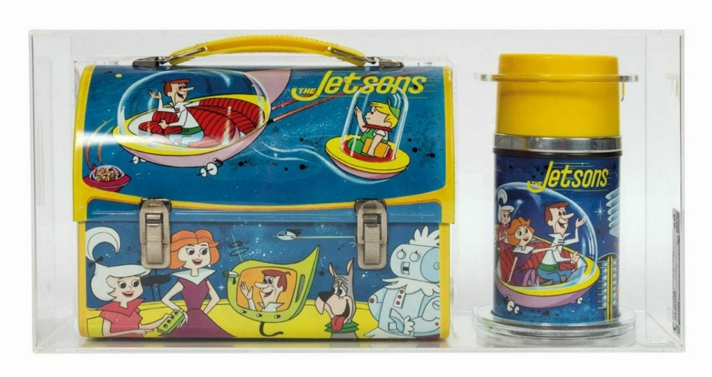 A Jetsons lunch box and Thermos earned $2,900 plus the buyer's premium in January 2021 at Van Eaton Galleries. Image courtesy of Van Eaton Galleries and LiveAuctioneers.