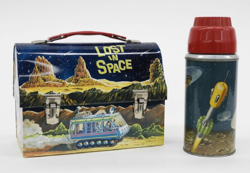 This 1967 American Thermos 'Lost In Space' dome lunch box sold for $800 plus the buyer's premium in January in 2019 at Bruneau & Co Auctioneers. Image courtesy of Bruneau & Co Auctioneers and LiveAuctioneers.