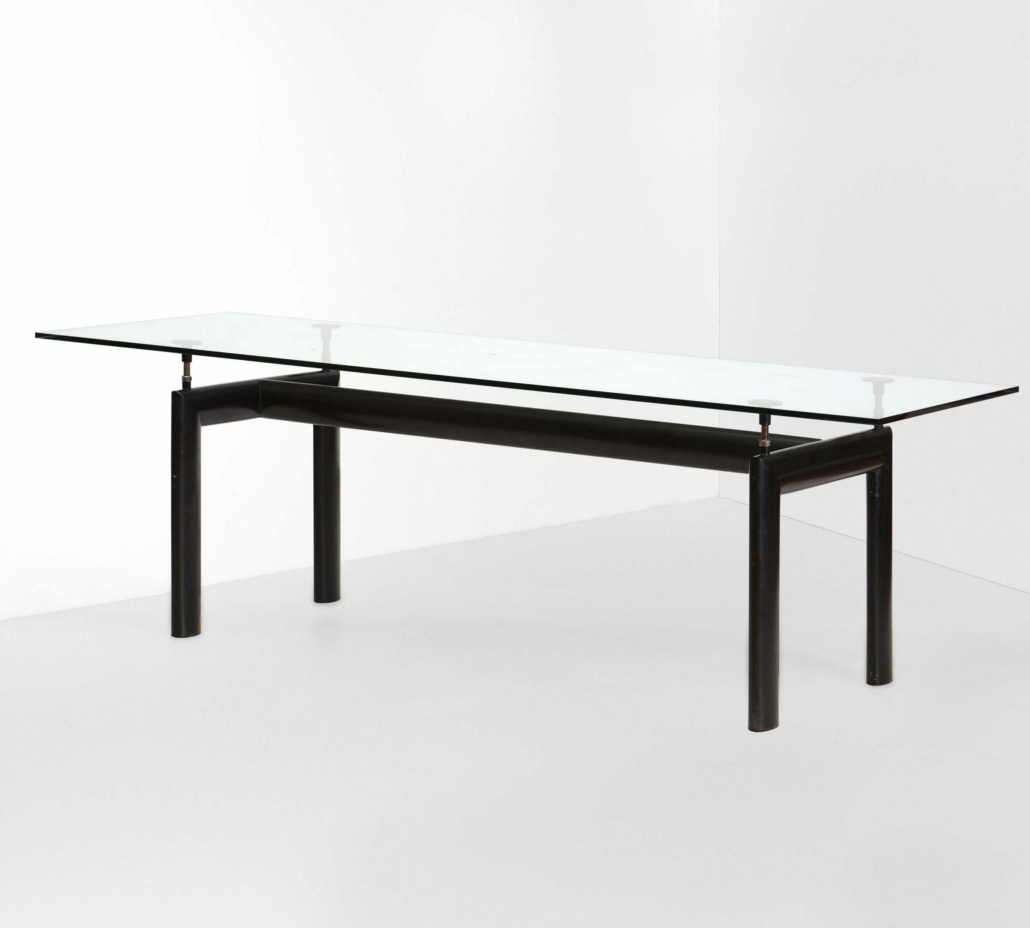 The LC6 dining table was originally designed in 1928 by Le Corbusier with his associates Charlotte Perriand and Pierre Jeanneret. This 1974 model was produced and sold by Cassina. It made $1,423 plus the buyer's premium in February 2021 at Cambi Casa D'Aste. Image courtesy of Cambi Casa D'Aste and LiveAuctioneers.