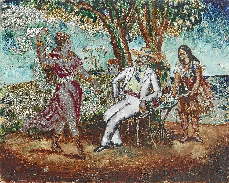 Dora Carrington, 'A Dance by the Sea,' est. £18,000-£25,000. Image courtesy of Bonhams