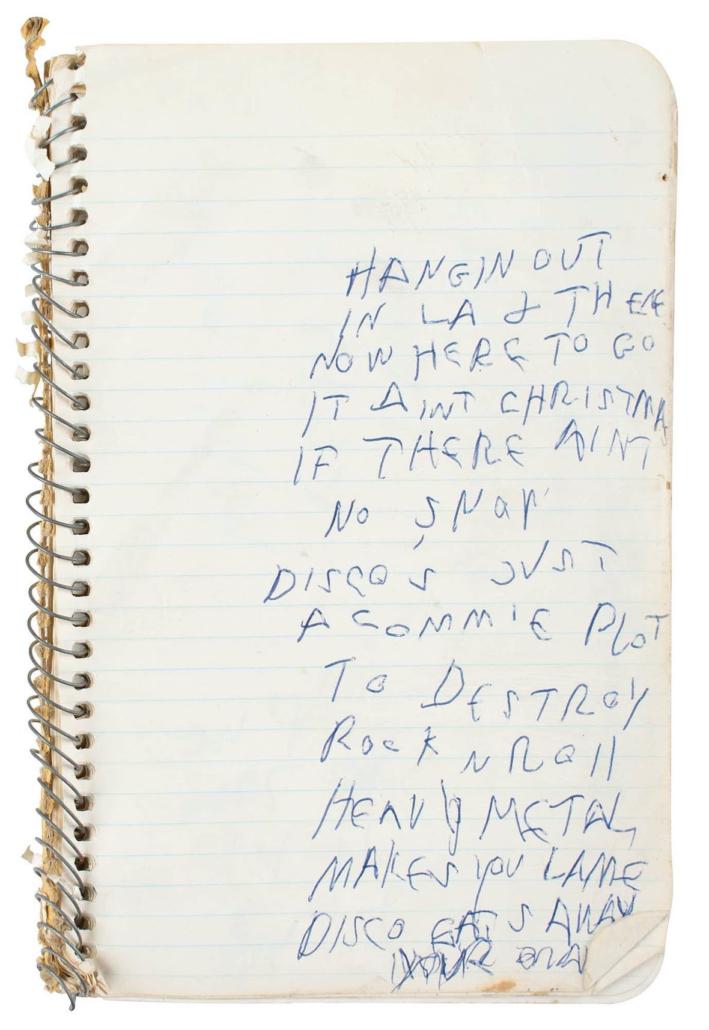 Arturo Vega's 1978-1980 loft notebook, $6,875