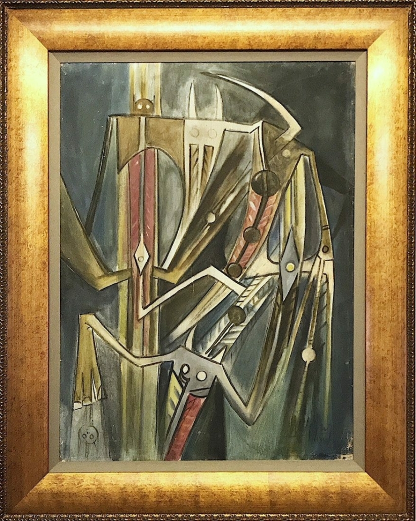 This untitled Wilfredo Lam oil painting from 1959 brought $425,000 plus the buyer's premium in May 2018 at Willow Fine Art Gallery. Image courtesy of Willow Fine Art Gallery and LiveAuctioneers.