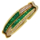 Harry Winston emerald and diamond bangle bracelet, est. $109,000-$131,000