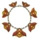 Rene Lalique Art Nouveau gold, carved horn, enamel and moonstone necklace, est. $75,000-$100,000