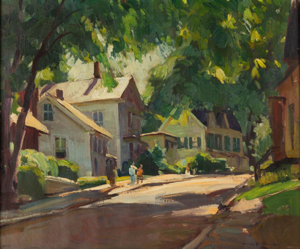 Emile Gruppe New England street scene, est. $3,000-$5,000