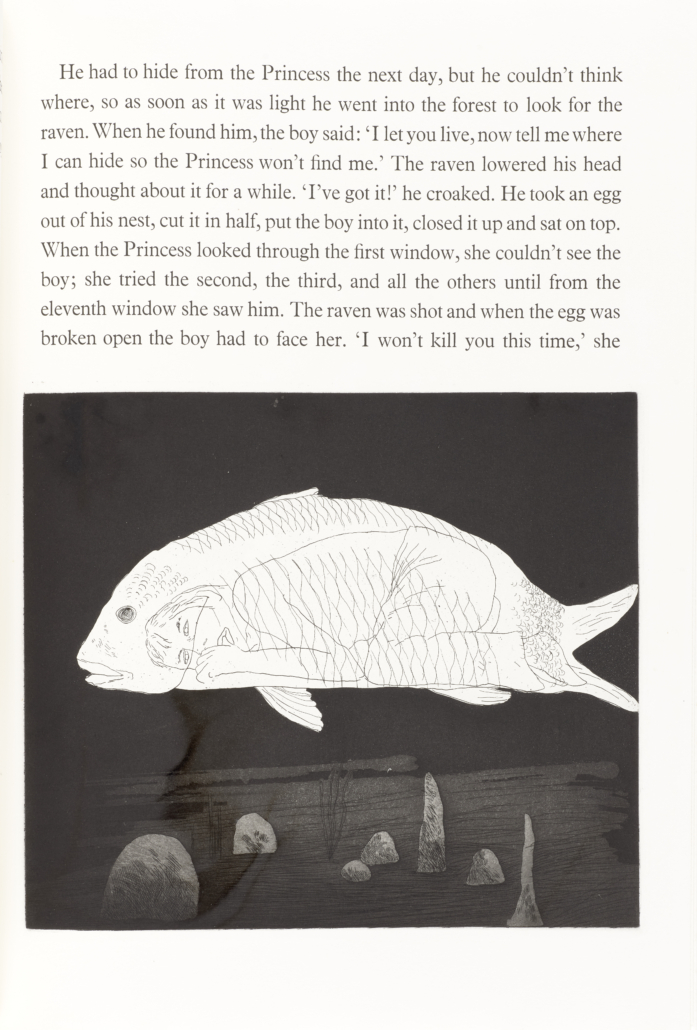 'Six Tales from The Brothers Grimm,' illustrated by David Hockney, est. $10,000-$15,000. Image courtesy of Bonhams