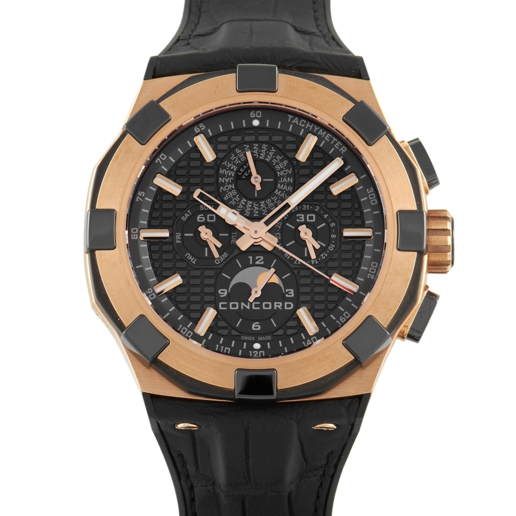 Concord 18K rose gold perpetual calendar chronograph, est. $41,000-$42,000