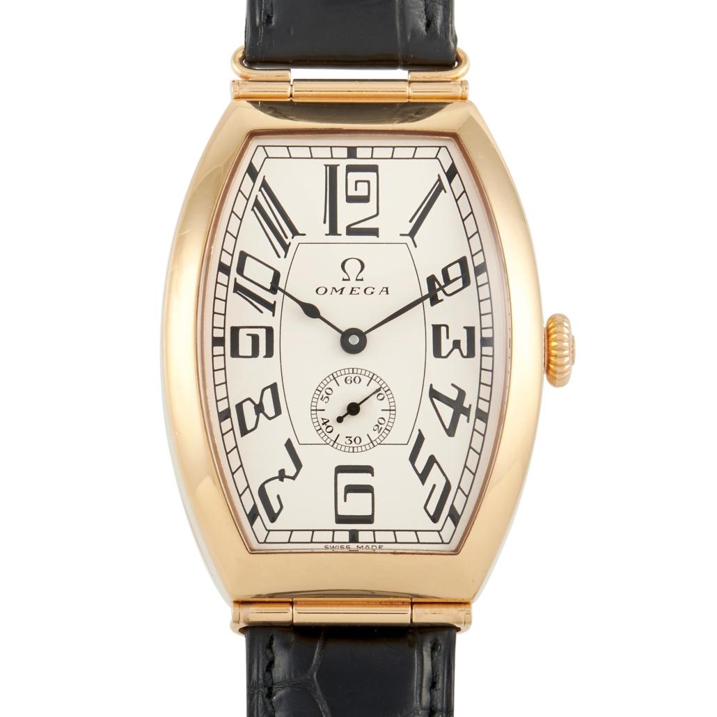 Omega Museum Petrograd 43mm 18K red gold watch, est. $12,000-$13,000