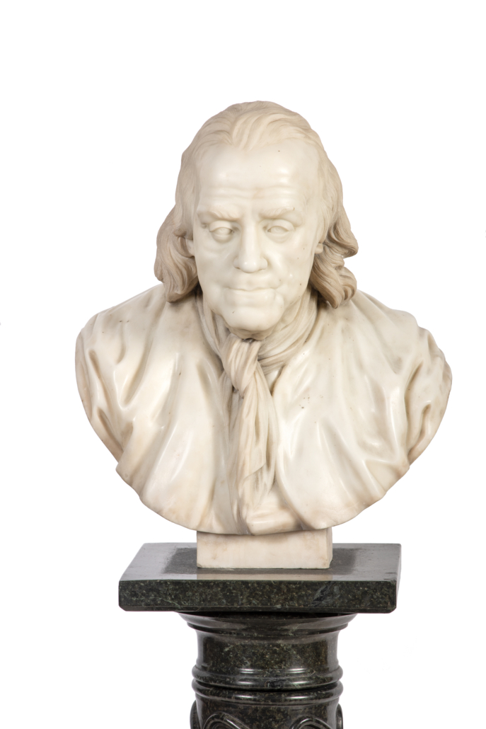 Marble bust of Benjamin Franklin, possibly by Giuseppe Ceracchi, $53,125