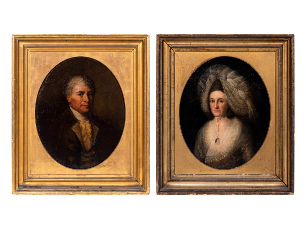 Pair of portraits attributed to Gilbert Stuart, $40,625