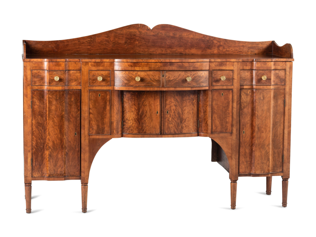Cherrywood scallop-front sideboard, $16,250