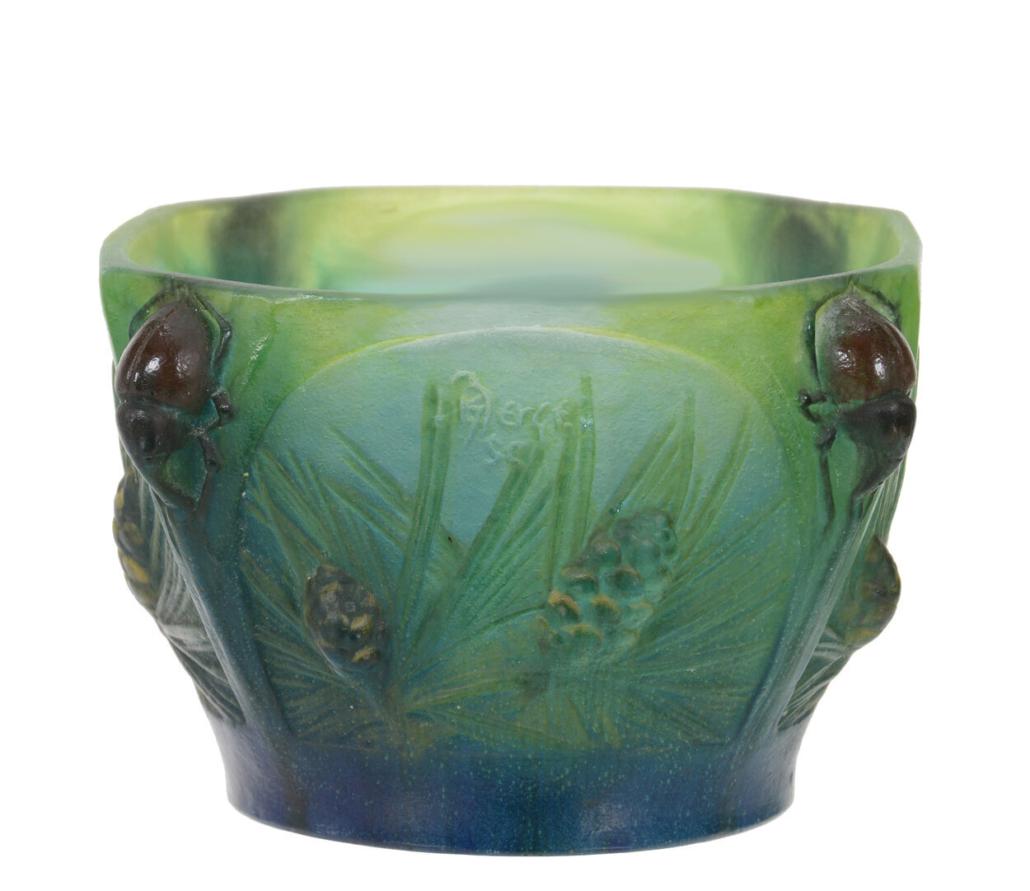 A.Walter Nancy pate-de-verre French art glass bowl, est. $2,500-$5,000