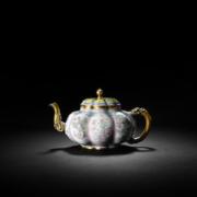 Imperial Beijing enamel melon-shaped teapot and cover, est. £500,000-£800,000. Image courtesy of Bonhams